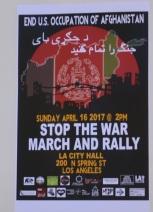 Antiwar Protest April 23; 2017:Photo b Barry Saks